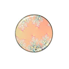 Peach Spring Frost On Flowers Fractal Golf Ball Marker 4 Pack (for Hat Clip) by Artist4God
