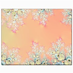 Peach Spring Frost On Flowers Fractal Canvas 8  X 10  (unframed)