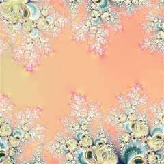 Peach Spring Frost On Flowers Fractal Canvas 12  X 12  (unframed) by Artist4God