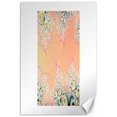 Peach Spring Frost On Flowers Fractal Canvas 24  X 36  (unframed) by Artist4God