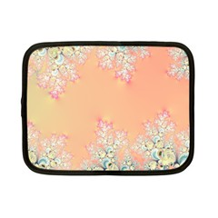Peach Spring Frost On Flowers Fractal Netbook Sleeve (small) by Artist4God