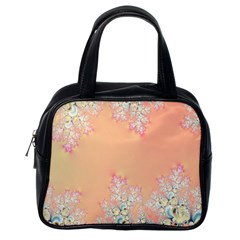 Peach Spring Frost On Flowers Fractal Classic Handbag (one Side) by Artist4God
