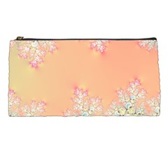 Peach Spring Frost On Flowers Fractal Pencil Case by Artist4God