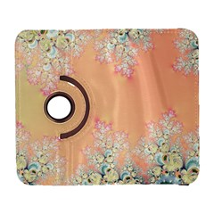 Peach Spring Frost On Flowers Fractal Samsung Galaxy S  Iii Flip 360 Case by Artist4God