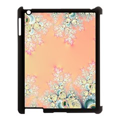 Peach Spring Frost On Flowers Fractal Apple Ipad 3/4 Case (black) by Artist4God
