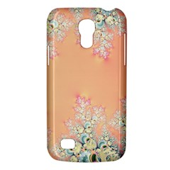 Peach Spring Frost On Flowers Fractal Samsung Galaxy S4 Mini (gt I9190) Hardshell Case  by Artist4God