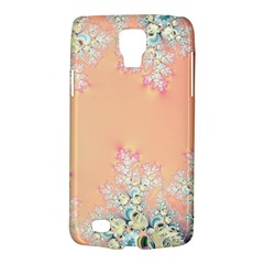 Peach Spring Frost On Flowers Fractal Samsung Galaxy S4 Active (i9295) Hardshell Case by Artist4God