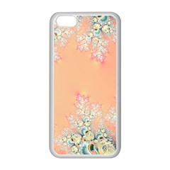 Peach Spring Frost On Flowers Fractal Apple Iphone 5c Seamless Case (white) by Artist4God