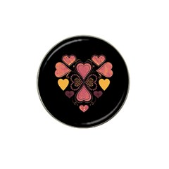 Love Collage Golf Ball Marker 4 Pack (for Hat Clip) by whitemagnolia
