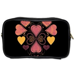 Love Collage Travel Toiletry Bag (two Sides) by whitemagnolia