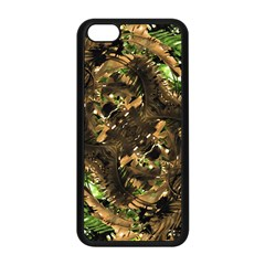 Artificial Tribal Jungle Print Apple Iphone 5c Seamless Case (black) by dflcprints