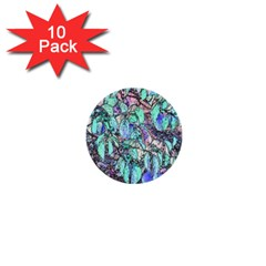 Colored Pencil Tree Leaves Drawing 1  Mini Button (10 Pack) by LokisStuffnMore
