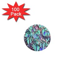 Colored Pencil Tree Leaves Drawing 1  Mini Button Magnet (100 Pack)