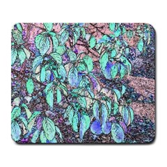 Colored Pencil Tree Leaves Drawing Large Mouse Pad (rectangle) by LokisStuffnMore