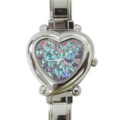 Colored Pencil Tree Leaves Drawing Heart Italian Charm Watch  by LokisStuffnMore