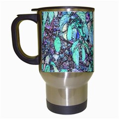 Colored Pencil Tree Leaves Drawing Travel Mug (white) by LokisStuffnMore