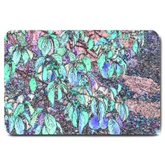 Colored Pencil Tree Leaves Drawing Large Door Mat