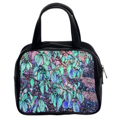 Colored Pencil Tree Leaves Drawing Classic Handbag (two Sides)