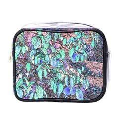 Colored Pencil Tree Leaves Drawing Mini Travel Toiletry Bag (one Side) by LokisStuffnMore