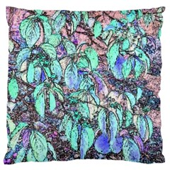 Colored Pencil Tree Leaves Drawing Large Cushion Case (two Sided)  by LokisStuffnMore
