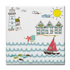 Summer Holiday Ceramic Tile by whitemagnolia