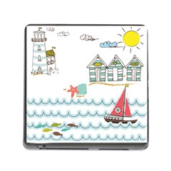 Summer Holiday Memory Card Reader With Storage (square) by whitemagnolia
