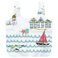 Summer Holiday Reusable Bag (xl) by whitemagnolia