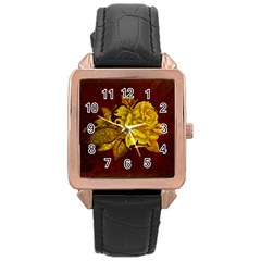 Rose Rose Gold Leather Watch  by ankasdesigns