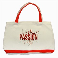 Passion And Lust Grunge Design Classic Tote Bag (red) by dflcprints
