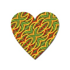 Tropical Colors Abstract Geometric Print Magnet (heart) by dflcprints