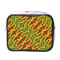 Tropical Colors Abstract Geometric Print Mini Travel Toiletry Bag (one Side) by dflcprints