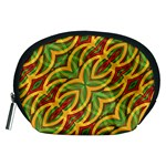 Tropical Colors Abstract Geometric Print Accessory Pouch (Medium) Front