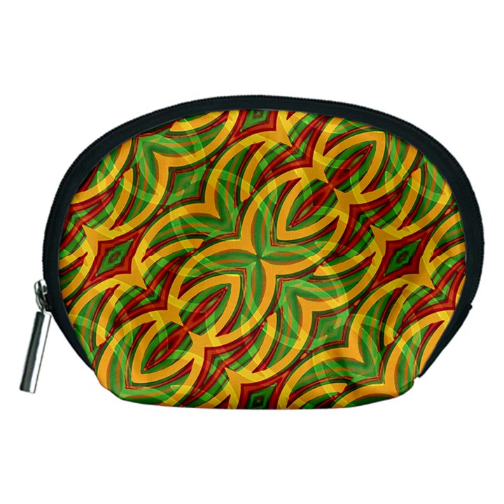 Tropical Colors Abstract Geometric Print Accessory Pouch (Medium)