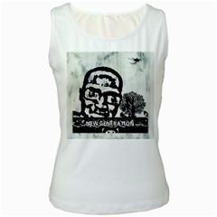 M G Firetested Women s Tank Top (white) by holyhiphopglobalshop1