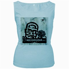 m.g firetested Women s Tank Top (Baby Blue)