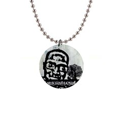 m.g firetested Button Necklace