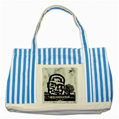 m.g firetested Blue Striped Tote Bag