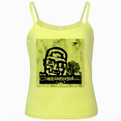 M G Firetested Yellow Spaghetti Tank by holyhiphopglobalshop1