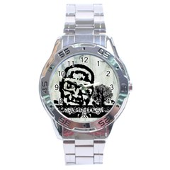M G Firetested Stainless Steel Watch by holyhiphopglobalshop1