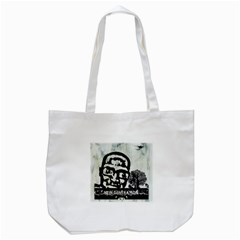 M G Firetested Tote Bag (white) by holyhiphopglobalshop1