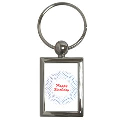 Halftone Circle With Squares Key Chain (rectangle) by rizovdesign