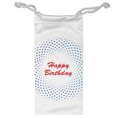 Halftone Circle With Squares Jewelry Bag by rizovdesign