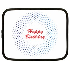 Halftone Circle With Squares Netbook Sleeve (xl) by rizovdesign