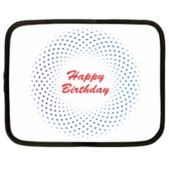 Halftone Circle With Squares Netbook Sleeve (xxl) by rizovdesign