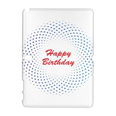 Halftone Circle With Squares Samsung Galaxy Note 10 1 (p600) Hardshell Case by rizovdesign