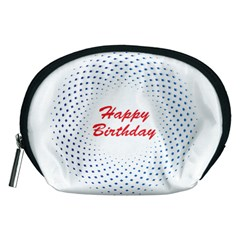 Halftone Circle With Squares Accessory Pouch (medium) by rizovdesign