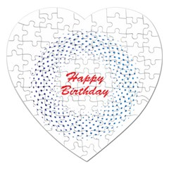 Halftone Circle With Squares Jigsaw Puzzle (heart) by rizovdesign