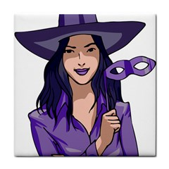 Purple Witch Ceramic Tile by FunWithFibro