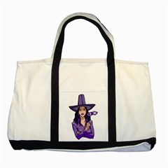 Purple Witch Two Toned Tote Bag by FunWithFibro
