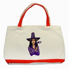 Purple Witch Classic Tote Bag (red) by FunWithFibro